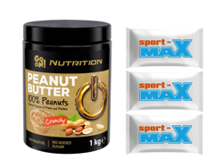 SANTE Go On Peanut Butter with Nut Pieces 1000g + 3x Sport-Max samples